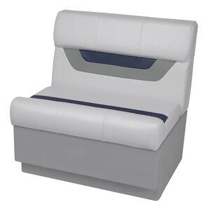 "Toonmate Designer Pontoon 27"" Wide Bench Seat - TOP ONLY - Sky Gray/Navy"