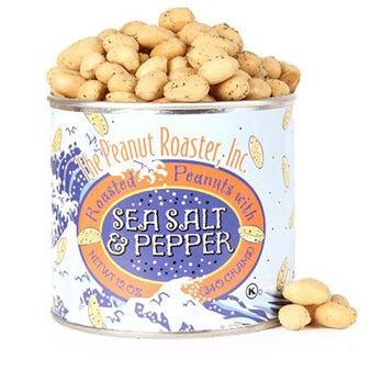 The Peanut Roaster Sea Salt and Pepper Peanuts, 12oz Can