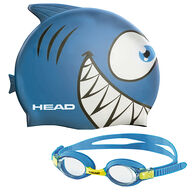 Head Meteor Kid's Goggles And Swim Cap Set - Blue