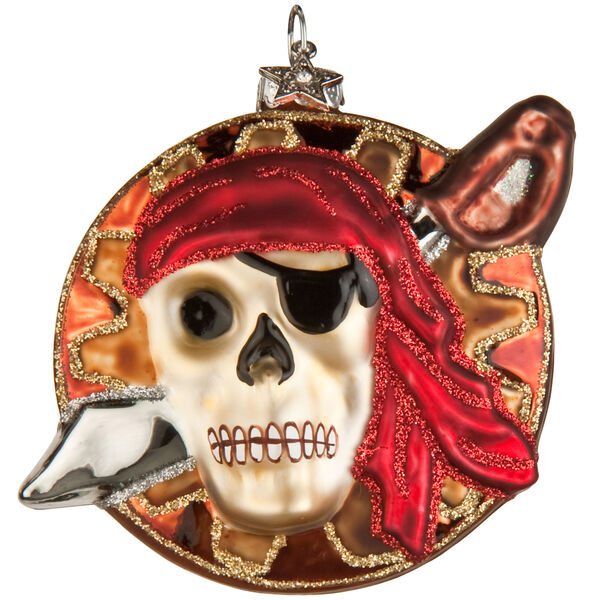 Midwest Pirate Skull Ornament