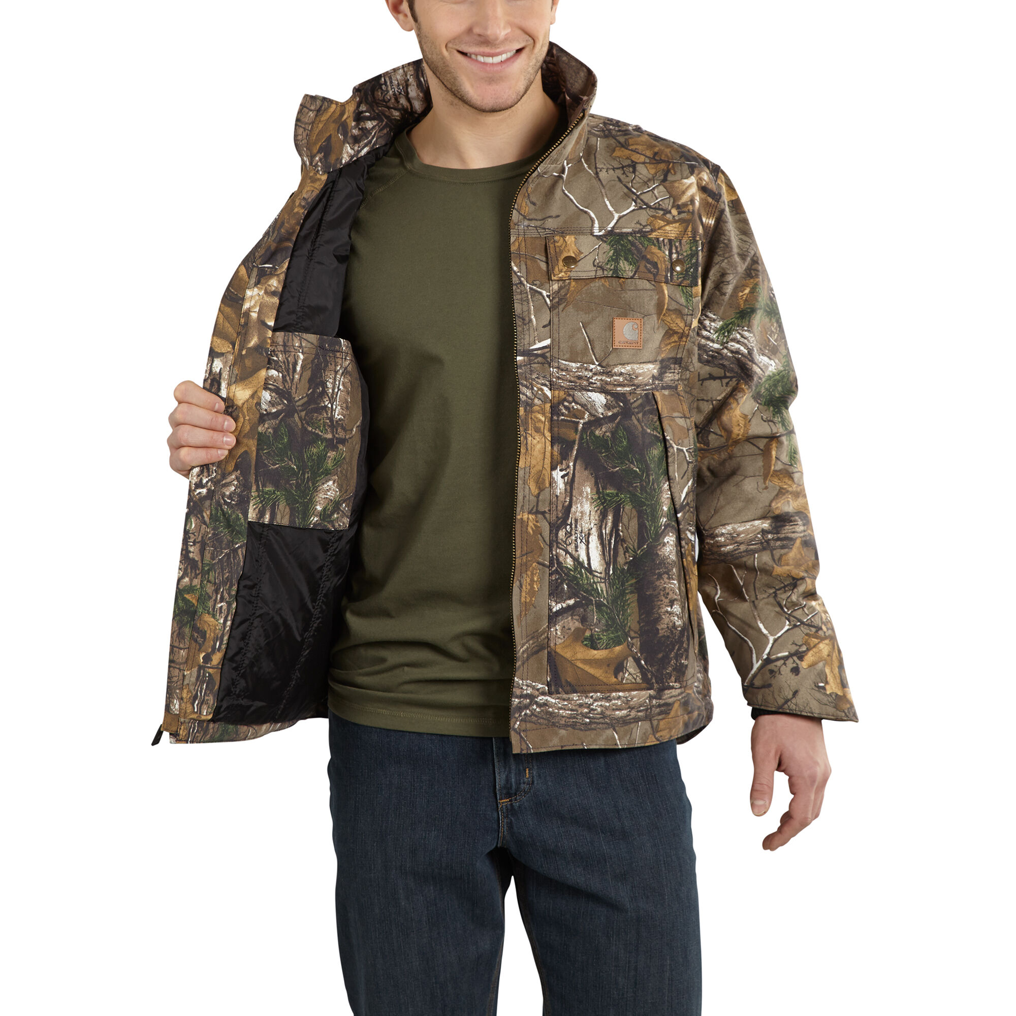 Carhartt 101444 Quick Duck® Quilt Lined Camo Traditional Jacket