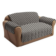 Paw Print Love Seat Cover, Gray/Black
