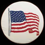 """American Flag Spare Tire Cover, 34"""""""