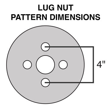 Kenda Loadstar 4.80 x 12 Bias Trailer Tire w/4-Lug White Spoke Rim