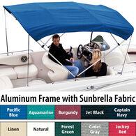 """Shademate Sunbrella 4-Bow Bimini Top, 8'L x 54""""H, 61""""-66"""" Wide"""