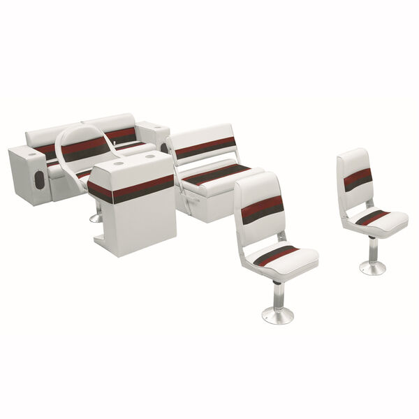 Toonmate Deluxe Pontoon Furniture w/Classic Base (no toe kick) - Fishing Package