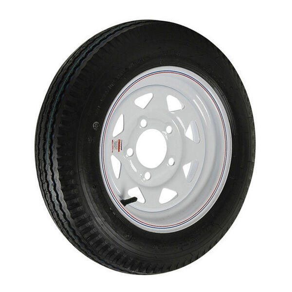 Kenda Loadstar 5.30 x 12 Bias Trailer Tire w/5-Lug White Spoke Rim