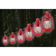 Red Lantern Lights, 10 Lights on 11' Cord