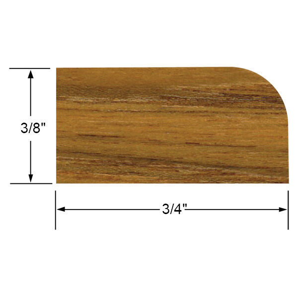 Whitecap Teak Teak Large Stop Molding, 5' long