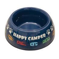 Navy Camper Pet Bowl
