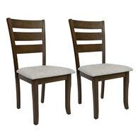 Allure Furniture Georgia Oak Fixed Chairs, pair