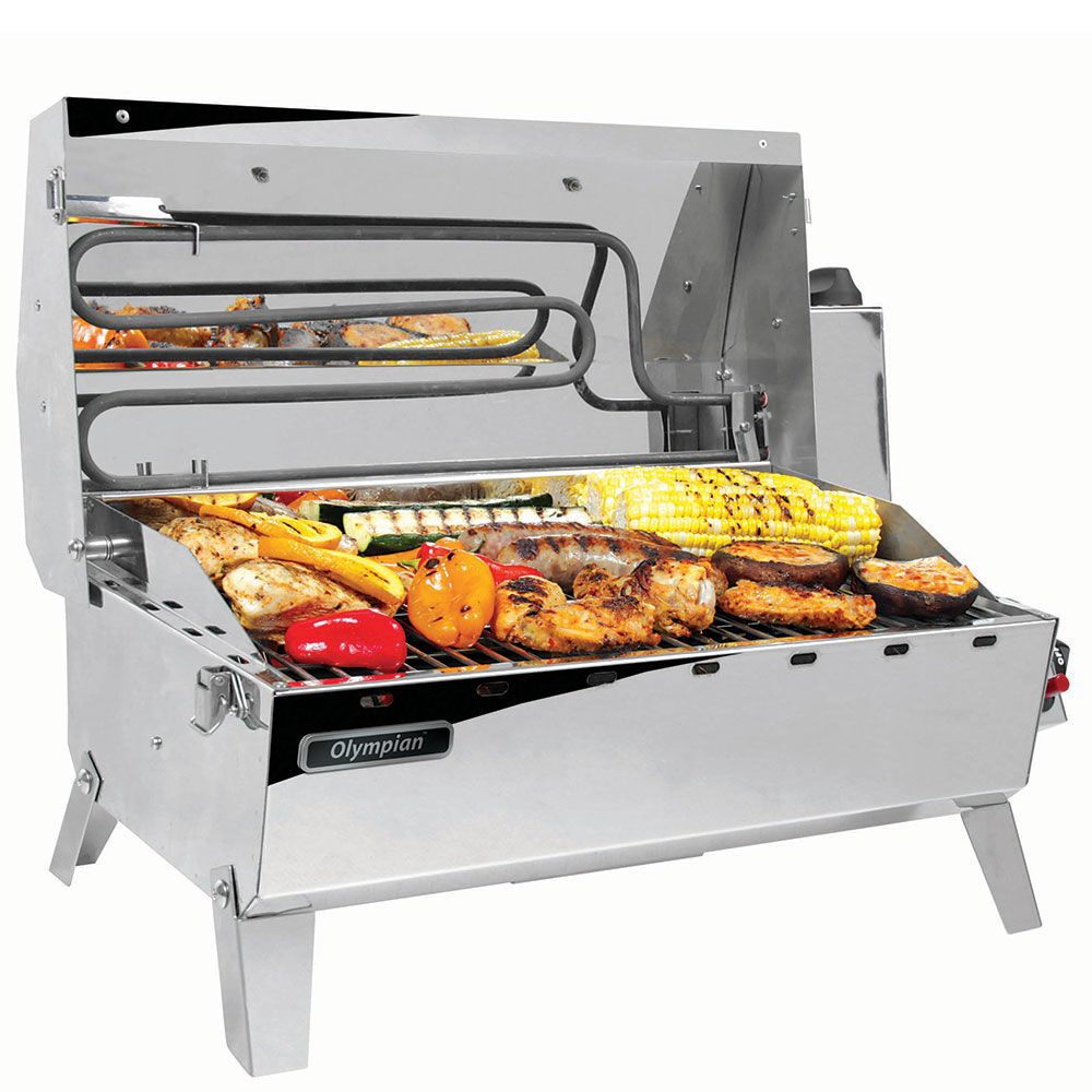 Camco Olympian Hybrid Stainless Steel 120v Electric Lp Gas Grill Gander Outdoors