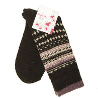 Bright Star Women's Fairisle Wool-Blend Sock