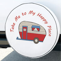 """Happy Camper"" Spare Tire Cover, Fits 27"" Dia. Tire"