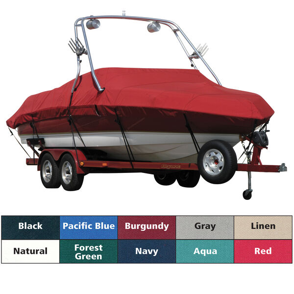 Sunbrella Boat Cover For Malibu 23 Escape W/Swoop Tower Doesn t Cover Platform