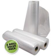 "Weston 11""W x 18'L Vacuum Sealer Bag Rolls, 3-Pack"