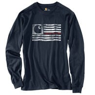 Carhartt Men's Lubbock Logo Flag Graphic Long-Sleeve Tee