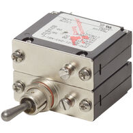 Blue Sea Systems COTS Military-Grade A-Series Toggle Circuit Breaker, 2 Pole 15A