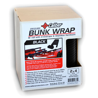 "Caliber Bunk Wrap Kit For 2"" x 4"" x 24' Bunks, Black"