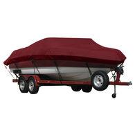 Exact Fit Covermate Sunbrella Boat Cover for Fisher Marsh Hawk 2  Marsh Hawk 2 W/Port Troll Mtr O/B. Burgundy