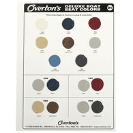 Overton's Deluxe Boat Seat Vinyl Sample Swatch Card