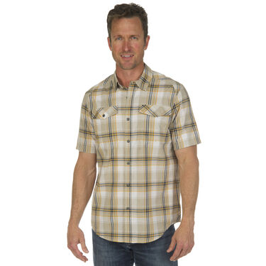 Ultimate Terrain Men's Essential Camp Plaid Short-Sleeve Shirt