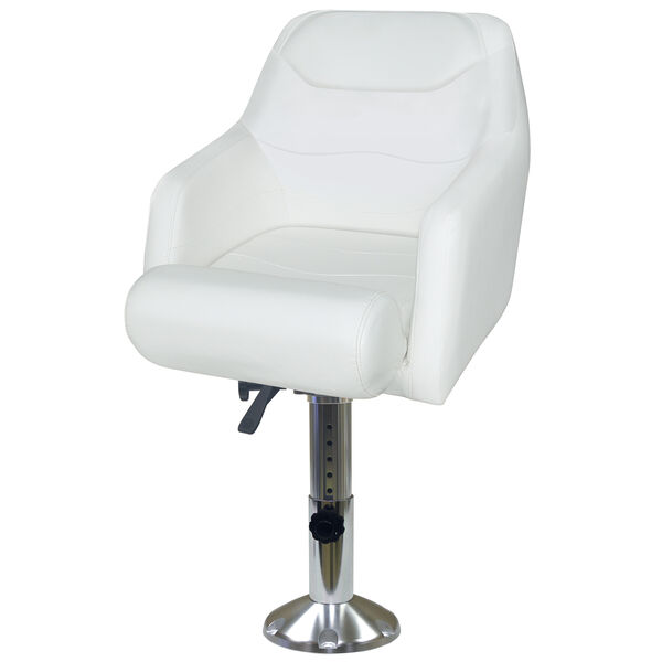 Wise Flip-Up Bucket Seat with Adjustable Pedestal and Seat Slide
