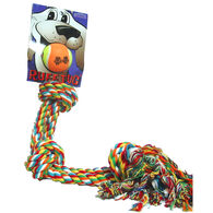 """Scott Pet 3-Knot Tug Rope with Ball, 22"""""""