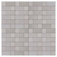"""Peel-and-Stick Mosaic Wall Tile, 12"""" x 12"""", Stainless Block"""