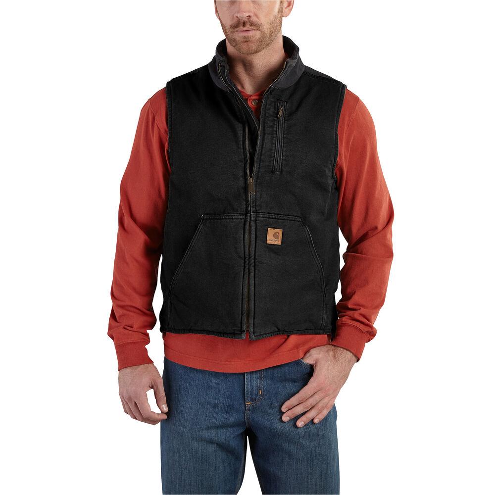 a3b0eca1eb Carhartt Men's Sandstone Sherpa-Lined Mock-Neck Vest | Gander Outdoors