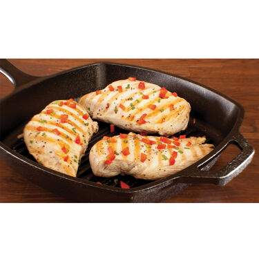 "Lodge Cast Iron 10.5"" Square Grill Pan"