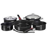 Stainless Steel Nesting RV Induction Cookware, 10 Piece Set, Black