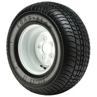 Kenda Loadstar 205/65-10 (20.5 x 8-10) Bias Trailer Tire, 5-Lug Std White Rim