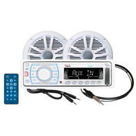 "Boss MOV1307W.6 AM/FM/MP3/iPod Receiver Package With Two 6.5"" Dual Cone Speakers"