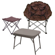Club Chair, Ottoman and Table Bundle