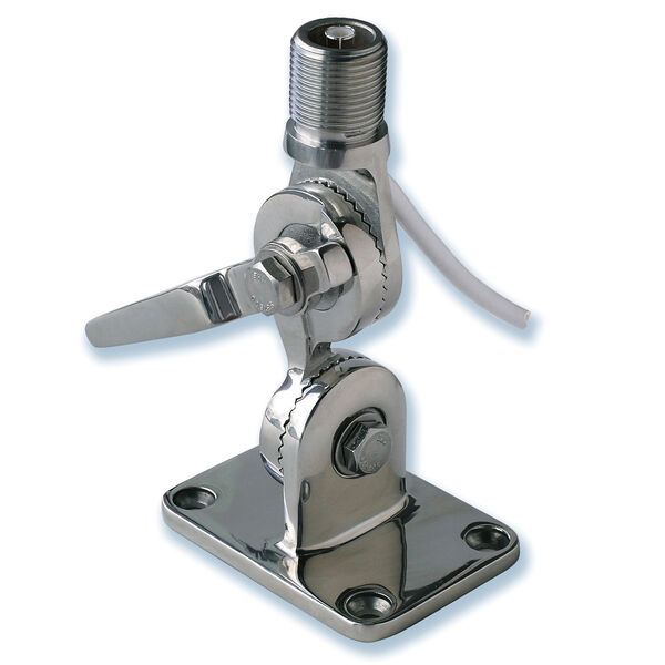Pacific Aerials AM/FM Fold-Down Stainless Steel Mount With Fastfit Connector