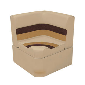 Toonmate Deluxe Radiused Corner Section Seat - TOP ONLY - Sand/Chestnut/Gold