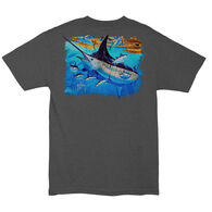 Guy Harvey Men's MOSAIC Pocketed Short-Sleeve Tee