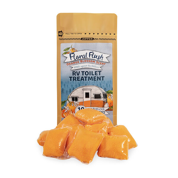 Floral Flush RV Toilet Treatment Drop-Ins, Orange Blossom, 10-Pack