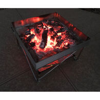 Pop-Up Fire Pit + Heat Shield Bundle