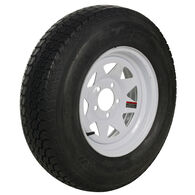 Tredit H188 205/75 x 15 Bias Trailer Tire, 5-Lug Spoke White Rim