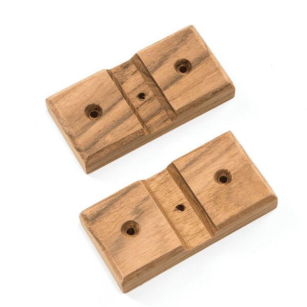 Whitecap Teak Teak Rod Storage Rack Mounting Boards