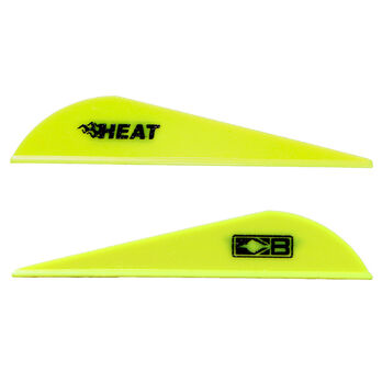 Bohning Heat Vanes, Neon Yellow, 36-Pack
