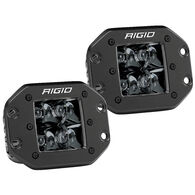 D-Series PRO Flush Mount - Spot LED - Midnight Edition - Pair - Black