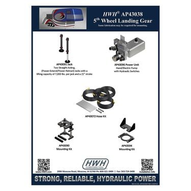 Hand/Electrical Pump Landing Gear System with Hydraulic Switches and Power-Extend/Power-Retract Landing Gear
