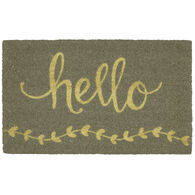 """Hello Coir Doormat, 18"""" x 30"""""""