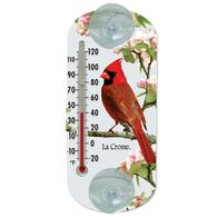 Window Red Cardinal Thermometer