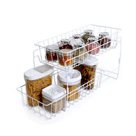 Smart Design 2-Tier Stackable Pull-Out Baskets
