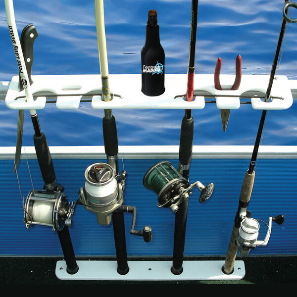 Taco Deluxe Pontoon Boat Rod Holder and Tackle Rack