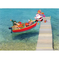 Kersten Brothers Personalized Santa Boarding Small Craft Card